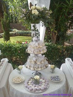 Moustakas flowers-Baptism reception #baptismdecor #whiteflowers #babygirlbaptism Baptism Reception, Baby Girl Baptism, White Flowers, Weddings, Table Decorations, Ideas, Home Decor, Decoration Home, Room Decor
