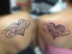 Love is permanent, so are tattoos. Having mother daughter tattoos to stand for the love of mother and daughter. CHECK OUT HERE!