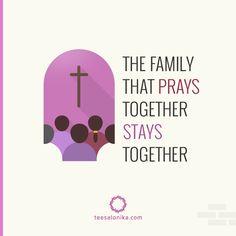 Tentang berdoa dan kebersamaan dalam keluarga Kristen.