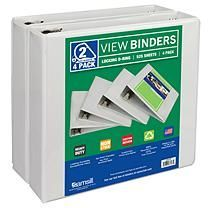 Samsill 3 Ring Durable View Binders - 4 Pack, 2 Inch Locking D-Ring, Non-Stick Customizable Clear View Cover Paper Punch Storage, Saving Sam, Paper Organization, Class Projects, Teacher Resources, Binder, Scrapbook Paper, Overlays, Recycling