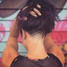 Undercut Hair Designs For The Most Bold And Badass Ladies - Livingly Undercut Long Hair, Shaved Undercut, Undercut Hairstyles Women, Shaved Nape, Undercut Hair Designs, Curly Hair Styles, Natural Hair Styles, Shaved Hair Designs, Hair Tattoos