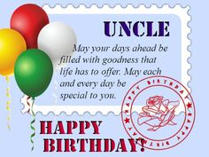 Happy Birthday Uncle Message For Card Messages
