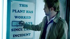 "This scene creates a mix of emotions. First, it's funny then kind of disturbing when you remember the kind of ""accidents"" John showed up for. #SaveConstantine"