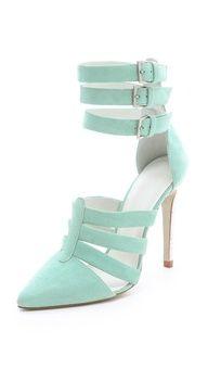 Zapatos de Moda para Novias en Verde Menta <3