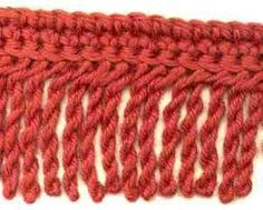 twisted crochet fringe. MUST learn how to do this.