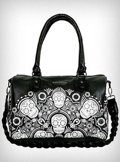 I'm not really into skulls on my accessories, but this is really chic.