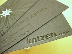 beautiful thermography business cards templates from katzen group for your inspiration - Thermography Business Cards