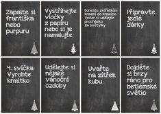 Christmas Calendar, Advent Calendar, Calendar Ideas, Art Quotes, Chalkboard Quotes, Activities For Kids, Christmas Crafts, Advent Ideas, Montessori
