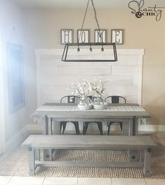 DIY Industrial Farmhouse Table and How-To Video - Shanty 2 Chic Cafe Industrial, Industrial Interior Design, Vintage Industrial Furniture, Industrial Interiors, Industrial Farmhouse, Industrial Office, Industrial Stairs, Industrial Closet, Industrial Restaurant