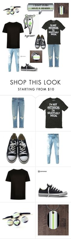"""""""Agender"""" by alices-tea-party ❤ liked on Polyvore featuring rag & bone, Converse, Dsquared2 and River Island"""