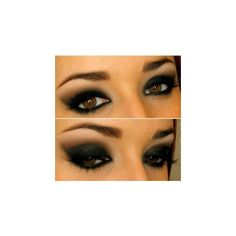 Smoky eyes beautiful awesome make up and Nails ❤ liked on Polyvore featuring beauty products and makeup