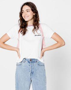 Pull&Bear - donna - magliette - maglietta scritta - ghiaccio…