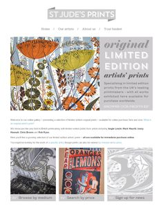 Our redesigned print gallery is now online at http://stjudesprints.co.uk