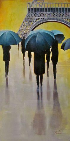 'Jour de Pluie' 48x24 (Rainy Day)