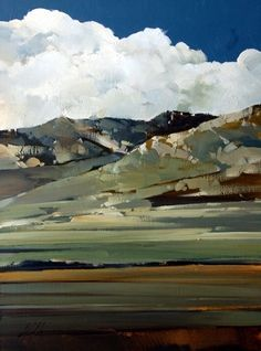 2010, High Creek Foothills by Joseph Alleman Oil ~ 16 x 12
