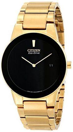 #citizengoldwatch Citizen Eco-Drive Men's AU1062-56E Axiom Gold-Tone Watch Check https://www.carrywatches.com
