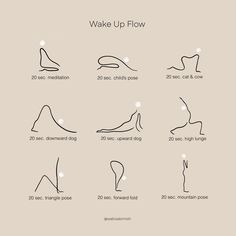 Wake Up Flow Morning stretches can help you stay in shape, become more flexible, and relieve sore mu Fitness Workouts, Yoga Fitness, At Home Workouts, Senior Fitness, Vie Motivation, Fitness Motivation, Wake Up Yoga, Morning Yoga Flow, Sleep Yoga