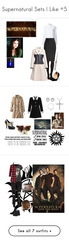 """Supernatural Sets I Like #5"" by nerdbucket ❤ liked on Polyvore featuring SPANX, Misha Nonoo, Roland Mouret, Liliana, Uniqlo, Yves Saint Laurent, David Yurman, CO, BERRICLE and art"