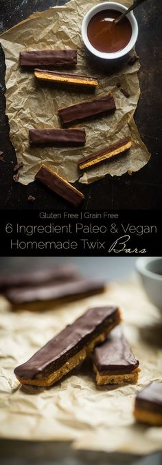 6 Ingredient Paleo and Vegan Homemade Twix Bars - You will NEVER know that these SUPER EASY homemade Twix bars are secretly healthy and gluten/grain/dairy and refined sugar free! | Foodfaithfitness.com | @Food Faith Fitness