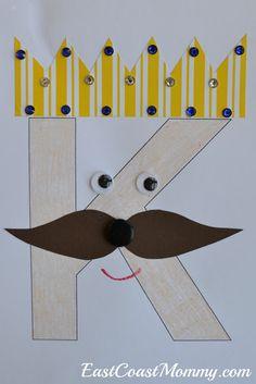 East Coast Mommy: Alphabet Crafts - Letter K Preschool Letter Crafts, Alphabet Letter Crafts, Abc Crafts, Alphabet Book, Alphabet Activities, Preschool Activities, Letter Art, Letter Tracing, Preschool Projects