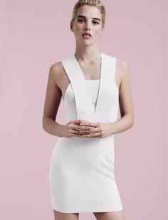 516b711e412 AQ AQ Zeta Mini Dress in cream. Shop online at AQAQ.com