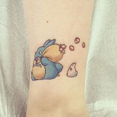 Pin for Later: Totoro, Soot Sprites, and Forest Spirits: 40 Enchanting Studio Ghibli Tattoo Ideas Totoro and Chibi Totoro