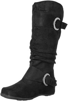 Brinley Co Women's Augusta 02 Slouch Boot, Black ** Don't get left behind, see this great product : Boots Mid Calf Boots, Knee High Boots, Discount Designer Shoes, Comfy Shoes, Bearpaw Boots, Black Boots, Riding Boots, Black 7, Highlight