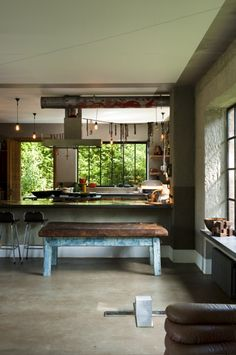 Rustic kitchen with an industrial feel to it.