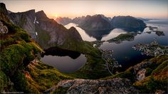 Midnight Sun by Stefan Forster on 500px There are few places in the world which are comparable to the Lofoten in Norway. To take this picture I hiked up to the only place where I could built up a 1-man-tent. To reach this place I had to carry up all my camera stuff including the tent, food, sleepingbag,... But when you're on the top it will just blow you away!