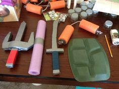 TMNT weapons and turtle shells