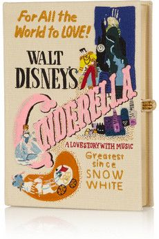 Olympia Le-Tan + Disney© Cinderella embroidered clutch | NET-A-PORTER