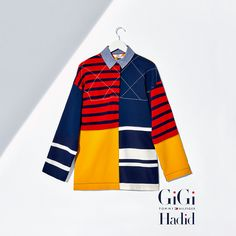 Oversized Patchwork Shirt Gigi Hadid | Pink / Purple | Tommy Hilfiger® | 8719256513852