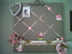 Memo Boards, Fabric Board, Decorating Your Home, Crochet Necklace, Workshop, Diy Crafts, Canvas, Frame, Fun