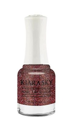 Kiara Sky Polish Rage The Night Away N427. Kiara Sky® Professional Nail Lacquer is an advanced formula free of Formaldehyde, Toluene, and DBP. Our highly pigmented, high-fashion nail lacquer provides glassy, full coverage, long-wearing shine for natural nails. Kiara Sky patent-pending bottle design is paired with Precision Brush® technology engineered to complement our highly pigmented formula, giving you the most even and precise lacquer application. Available in 101 trendsetting...