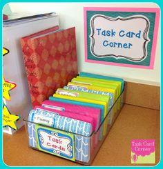 Task Card Storage & Organization--Great ideas for the task card craze