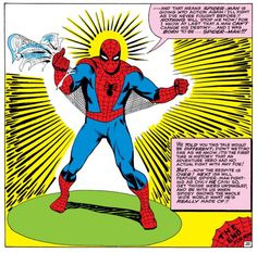Spider-Man returns to fight again in Amazing Spider-Man Comic Book Superheroes, Comic Book Heroes, Comic Books, Captain America, Steve Ditko, Spiderman Art, Costume, Spider Verse, Panel Art
