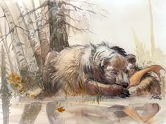 "Microïds - Benoit Sokal's ""Syberia II"" Artwork: Sketches / Concept Art #bear"