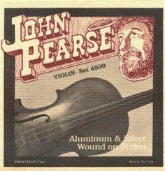 John Pearse Violin Perlon Core, .010 - .031, 4500 by John Pearse. $25.55. NOTE DESCRIPTION DIAMETER INCHES TENSION LBS
