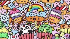 Kawaii Cupcake World  - Kawaii Graffiti and Cute Doodles