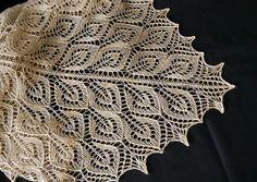 Tree of Light  - lovely leaf motif in fine sea silk - pattern by Cordula Surmann-Schmitt
