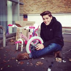 Jack's building a... hello kitty bicycle...what is this
