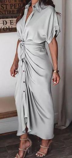 Draped Dress, Maxi Dress With Sleeves, The Dress, Short Sleeve Dresses, Shirt Dress, Long Sleeve, Women's A Line Dresses, Maxi Dresses, Prom Dress