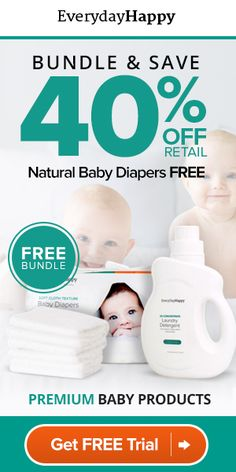 FREE TRIAL Natural Diapers & Wipes Kit Diapers with a natural, comfy fit, and soft, durable wipes that are gentle on your baby's delicate skin. Guaranteed toxin- and carcinogen-free, and delivered straight to your door! A Healthier Alternative All of EverydayHappy's products are naturally sourced and eco-friendly. Each kit contains products to keep your family …