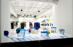 2D/3D chairs for Issey Miyake by Yoichi Yamamoto Architects