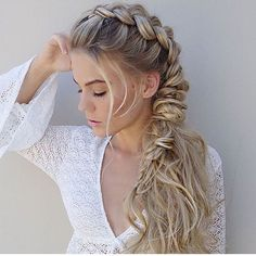 Torn between a #braid and a #ponytail? Do both, just like @hairbyjaxx ! Thanks for tagging #modernsalon