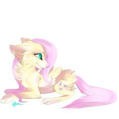 Fluttershy is still cute as a fox. <--- fox? That's a wolf...