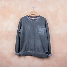Acid Wash Grey Sweatshirt by ANERKJENDT    100% Authentic 100% Style