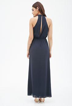 Chiffon Halter Maxi Dress   FOREVER21 - 2000118701