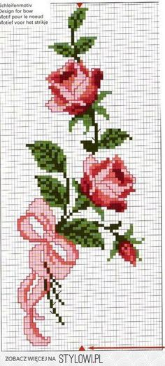 This Pin was discovered by Hav Butterfly Cross Stitch, Cross Stitch Borders, Cross Stitch Rose, Cross Stitch Flowers, Cross Stitch Designs, Cross Stitching, Cross Stitch Embroidery, Cross Stitch Patterns, Embroidery Flowers Pattern