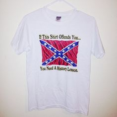 Confederate Flag Worn once, size small but could fit a medium. Don't remember where I bought it from Buckle Tops
